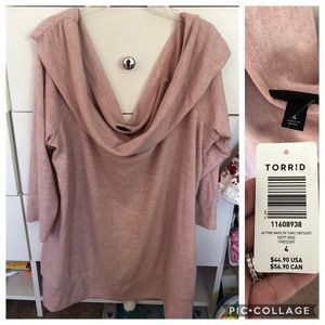Plus sized off the shoulder sweater by Torrid NWT